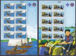 Europa Cept - 2007 - Guernsey - 2.Sheetlet Of 10 Set - (Scouting) ** MNH - 2007