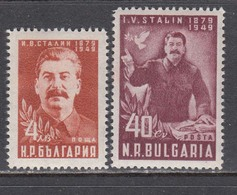 Bulgaria 1949 - 70e Anniversaire De STALINE, YT 639/40, Neufs** - 1945-59 Volksrepubliek