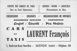 """CPA / CARTE DE VISITE FRANCE 48 """"Mende, Bld Henri Bourillon, LAURENT François"""" - Mende"""