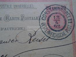 ZA265.7 TURKEY CONSTANTINOPLE II.  ÖSTERREICHISCHE POST  SENT TO VÁCZ  1898 - Eastern Austria