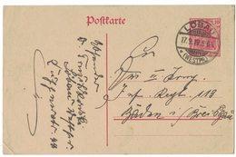 IB30   Deutsches Reich 1919 , LÖBAU, Klarer Ortsstempel Auf Karte - Allemagne