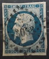 Empire No 14 A Obl Pc 3083 De ST SAINT GEORGES DE RENEINS, Rhône,  Indice 9, TB - 1853-1860 Napoleon III