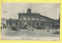 * Lille - Rijsel (Dép 59 - Nord - France) * (ND Phot, Nr 20) La Gare, Railway Station, Bahnhof, Tram à Cheval, Rare - Lille