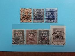 GERMANIA - Occupazioni 1914/18 - Polonia-Romania - 7 Differenti Timbrati + Spese Postali - Occupation 1914-18