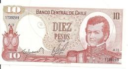 CHILI 10 PESOS 1975 UNC P 150 - Chile