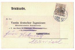 IB32   Deutsches Reich 1909 , HALLE, Klarer Ortsstempel Auf Karte - Allemagne