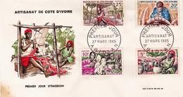 Cote D'Ivoire FDC YT 230/3 Artisanat Abidjan 27/03/65 - Côte D'Ivoire (1960-...)
