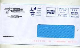 Lettre Flamme Ema Marseille Lycee Perrin - Storia Postale
