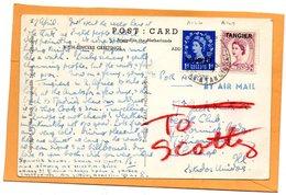 Tangier Old Postcard Mailed - Uffici In Marocco / Tangeri (…-1958)
