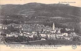 48 - LE MALZIEU VILLE : Vue Générale Sud Ouest Et Chaine De La Margeride - CPA Village (730 Habitants) - Lozère - Autres Communes
