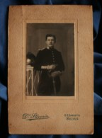 Photo Cabinet Stévenin à Sedan - Militaire Cavalier Du 28e Dragon, Vers 1900 1910 L483 - Guerra, Militares