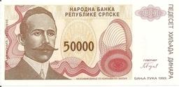 BOSNIE HERZEGOVINE 50000 DINARA 1993 UNC P 150 - Bosnie-Herzegovine