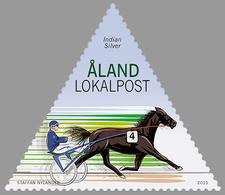 Aland Finland 406 Cheval De Course Indian Silver - Horses