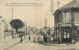 VAL D'OISE  ARGENTEUIL  Val Notre Dame  Avenue Jean Jaures Angle  Avenue De La Victoire - Argenteuil
