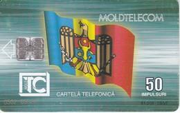TARJETA DE MOLDAVIA DE 50 IMPULSURI - BANDERA-FLAG (MOLDOVA) - Moldova