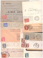Perforés Sur Lettres Sans En Tête - Francia