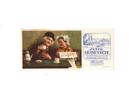 Buvard SUPER  GRAND'OUCHE  Fromagerie De Réparsac Couple Agè Devant Café Et Journal - Alimentare