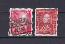 BRD - 1949 - Michel Nr. 112+119 - Gest. - 39 Euro - BRD