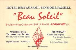 """CPA / CARTE DE VISITE FRANCE 44 """"Pornichet, Restaurant Beau Soleil, Bld Des Océanides"""" - Pornichet"""