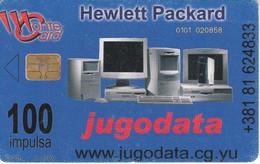 TARJETA DE MONTENEGRO DE 100 IMPULSA DE HEWLETT PACKARD - JUGODATA - Montenegro