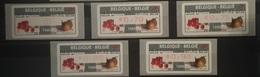 BELGIUM : 5 VIGNETTES  NEW FRANKING Fruits   MNH - Automatenmarken (ATM)