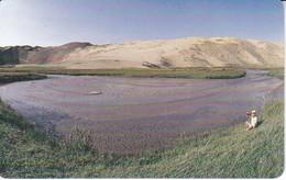TARJETA DE MONGOLIA DE 150 UNITS DE UN LAGO Y MONTAÑA - Mongolei