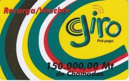 TARJETA DE MOZAMBIQUE DE 150000 MT DE GIRO - Mozambico