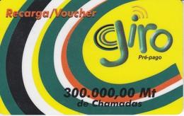 TARJETA DE MOZAMBIQUE DE 300000 MT DE GIRO - Mozambico