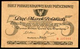POLAND 5 MAREK 1919 R 227164 Pick 20b VF - Poland