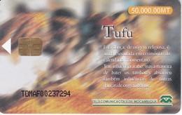 TARJETA DE MOZAMBIQUE DE 50000 MT DE TUFU BAILE TIPICO - Mozambico