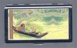Kuifje/Tintin (Hergé) Sigarettenhouder/boîte à Cigarettes Het Gebroken Oor/L'oreille Cassée 20 X 60 X 105 Mm³ - Boeken, Tijdschriften, Stripverhalen