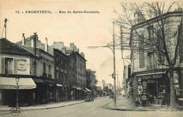 VAL D'OISE  ARGENTEUIL   Rue De Saint Germain - Argenteuil