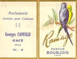 """CPA / CARTE DE VISITE FRANCE 61 """"Gacé, Georges CANVILLE, Parfumerie, Calendrier 1961"""" - Gace"""