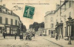 VAL D'OISE  ARGENTEUIL La Porte Et Rue  De Saint Germain Angle De La Rue Verte - Argenteuil