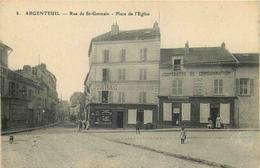VAL D'OISE  ARGENTEUIL  Rue De Saint Germain  Place De L'église - Argenteuil