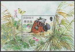 Jersey Yvertn° Bloc 13 *** MNH Cote 5,50 Euro Faune Rat, Papillon, Vlinder - Jersey