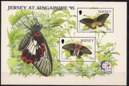 Jersey 1995 Yvertn° Bloc 12 *** MNH Cote 6,00 Euro Faune Papillons Vlinders - Jersey