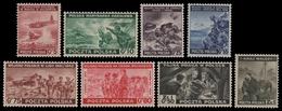 Polen 1943 - Mi-Nr. 368-375 ** - MNH - Kriegsszenen - Gouvernement De Londres (exil)