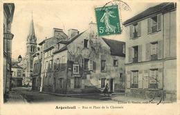 VAL D'OISE  ARGENTEUIL  Rue Et Place De La Chaussée - Argenteuil