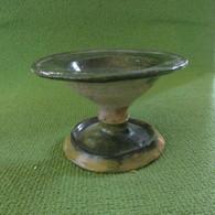Circa 1650 Earthenware Green Table Top Salt Dish - Arqueología