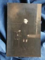 Carte Photo éclair à Lyon, Petit Garçon, Jean Curt Culotte Courtes, écrite 1922 L484 - Fotografia