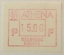 BELGIUM : 15 Vignets  ATHENA 1 To 15 BFR  MNH - Frankeervignetten