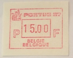 BELGIUM : 15 Vignets  PORTUS 1987 1 To 15 BFR  MNH - Frankeervignetten