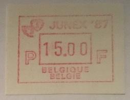 BELGIUM : 15 Vignets  JUNEX 1987 1 To 15 BFR  MNH - Frankeervignetten