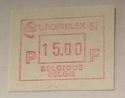 BELGIUM : 15 Vignets  EUROPHILEX 1987 1 To 15 BFR  MNH - Frankeervignetten