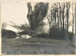 PHOTO ALLEMANDE - DYNAMITAGE DU PONT DE PONTOISE PRES DE NOYON EN MARS 1917 OISE - GUERRE 1914 1918 - 1914-18