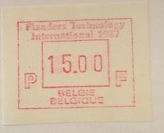 BELGIUM : 15 Vignets  FLANDERS TECHNOLOGY 1987   1 To 15 BFR  MNH - Frankeervignetten