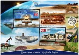 Kazakhstan 2019 Kyzylorda Region Architecture Birds Space Camel SS Of 2v MNH - Ruimtevaart