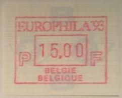 BELGIUM : 11 Vignets  EUROPHILA 1994   1 To 10 + 15 BFR  MNH - Frankeervignetten
