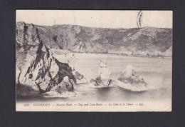 Guernesey Guernsey Moulin Huet Dog And Lion Rocks Le Lion Et Le Chien (LL 153 Ref 40276) - Guernsey